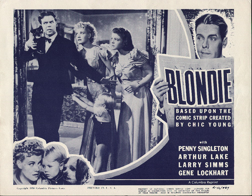 Arthur Lake, Dorothy Moore, Larry Simms, and Penny Singleton in Blondie (1938)