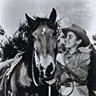 Mark McCain (Johnny Crawford) with his horse Blueboy (Bosco) during the first season of The Rifleman (1958-1959).