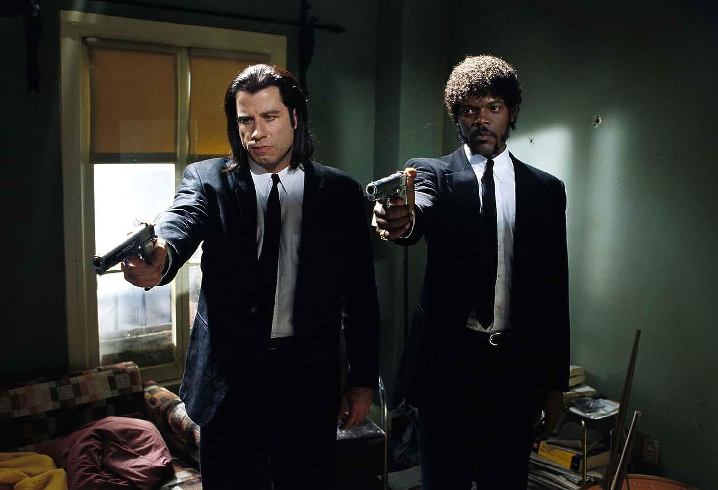 Samuel L Jackson and John Travolta in Pulp Fiction 1994