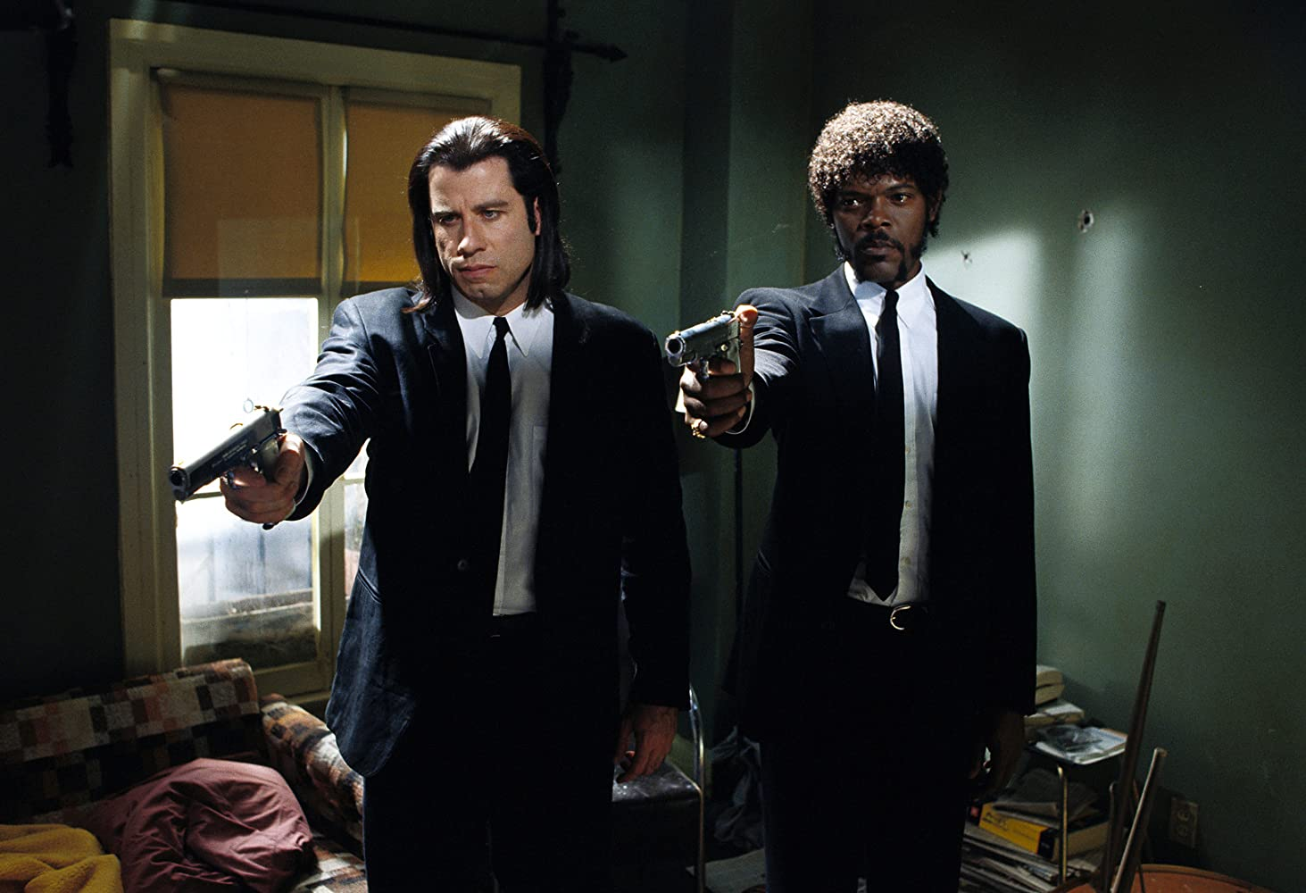 Samuel L. Jackson and John Travolta in Pulp Fiction (1994)