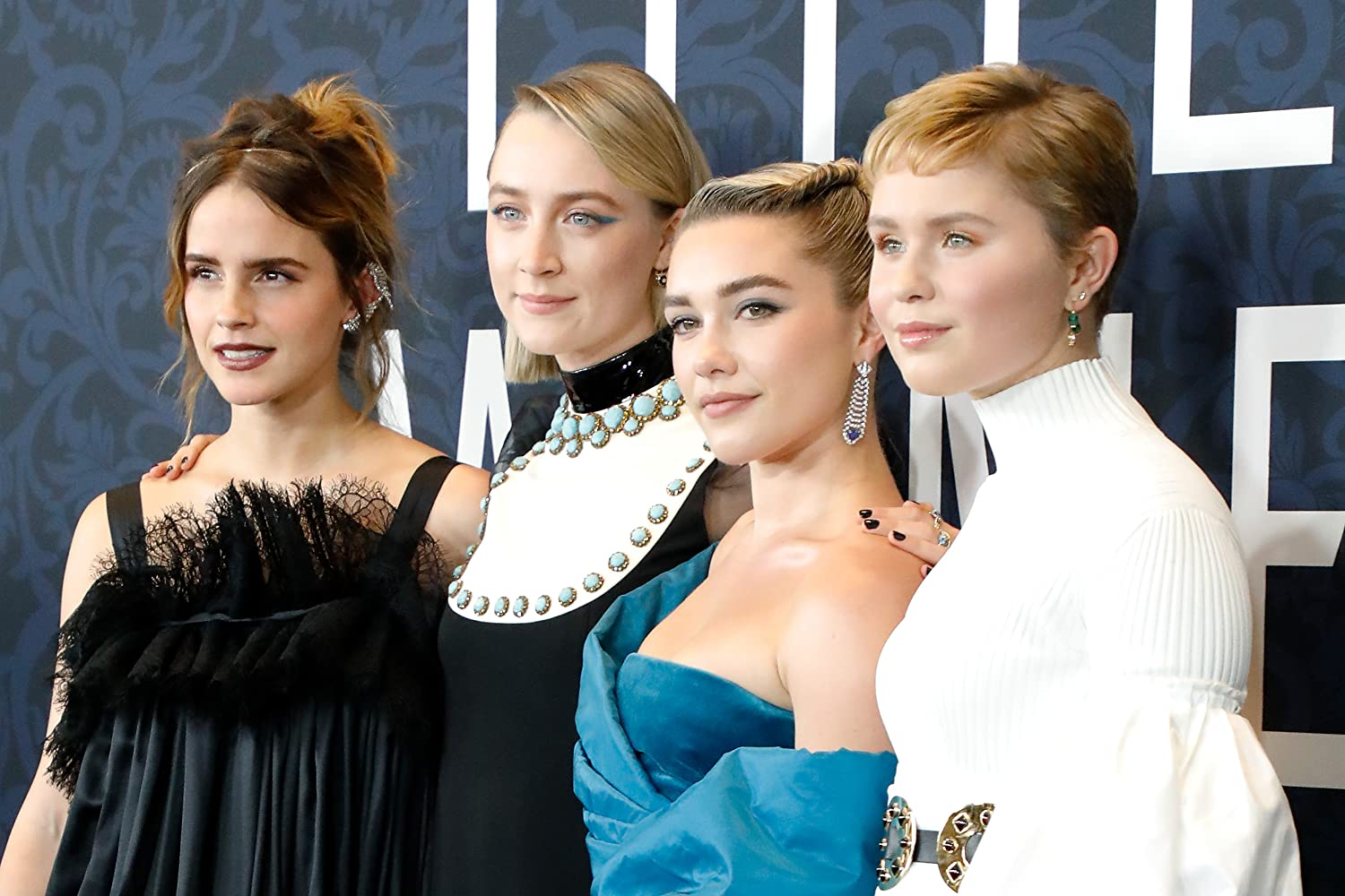 Emma Watson, Saoirse Ronan, Florence Pugh, and Eliza Scanlen at an event for Little Women (2019)