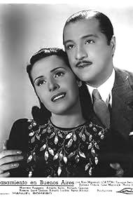 Roberto García Ramos and Sabina Olmos in Casamiento en Buenos Aires (1940)
