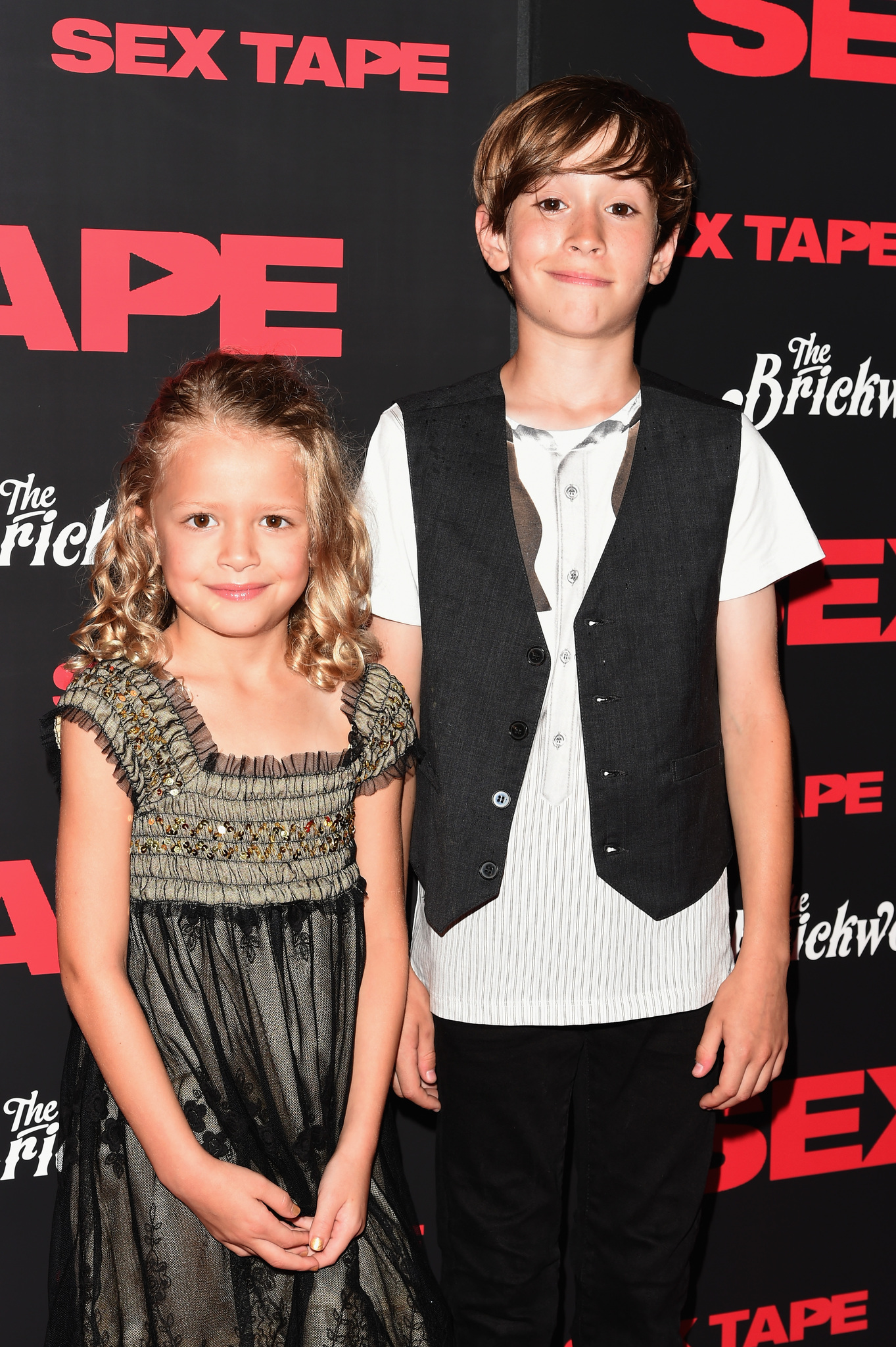 Sebastian Hedges Thomas and Giselle Eisenberg at an event for Sex Tape (2014)