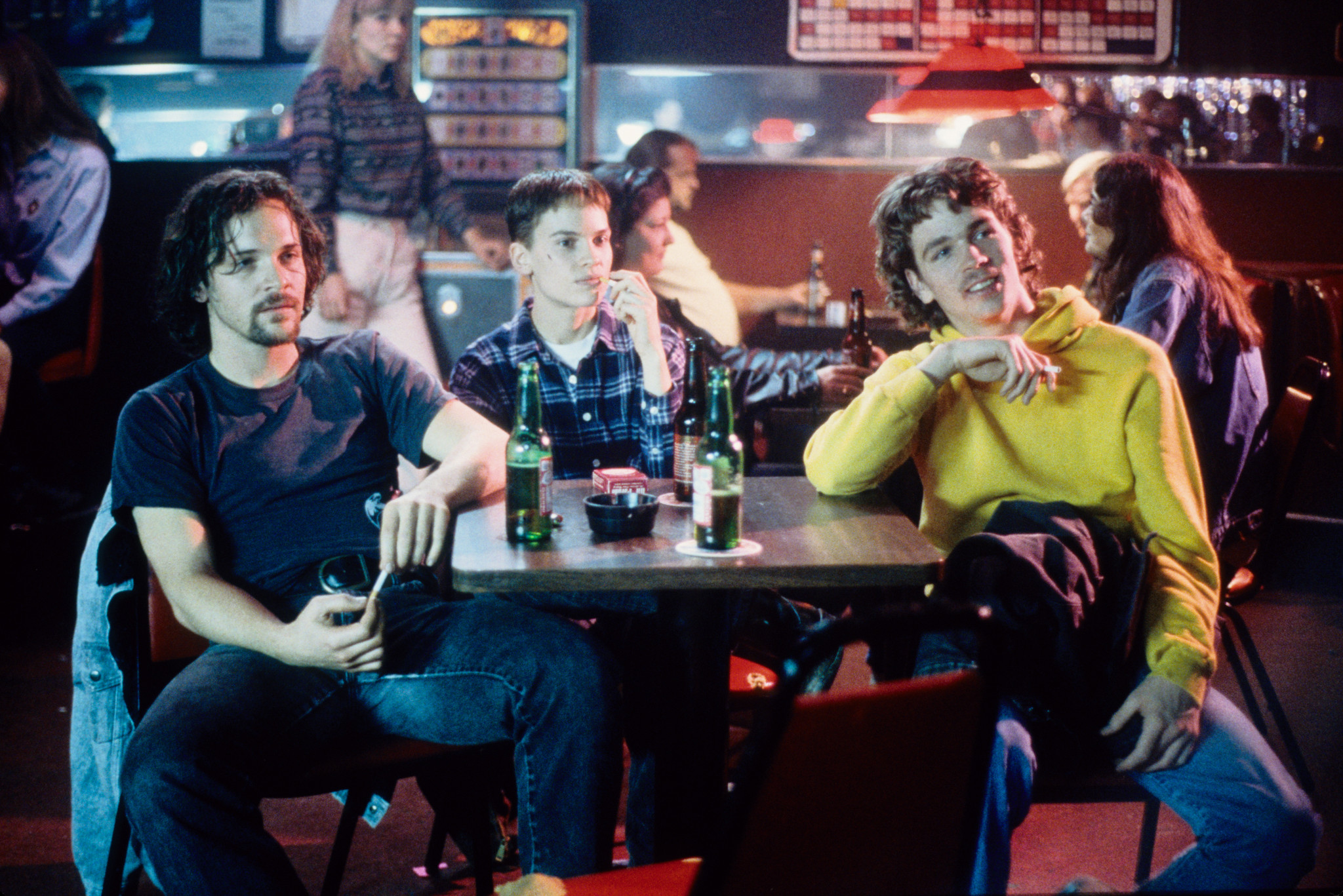 Hilary Swank, Peter Sarsgaard, and Brendan Sexton III in Boys Don't Cry (1999)