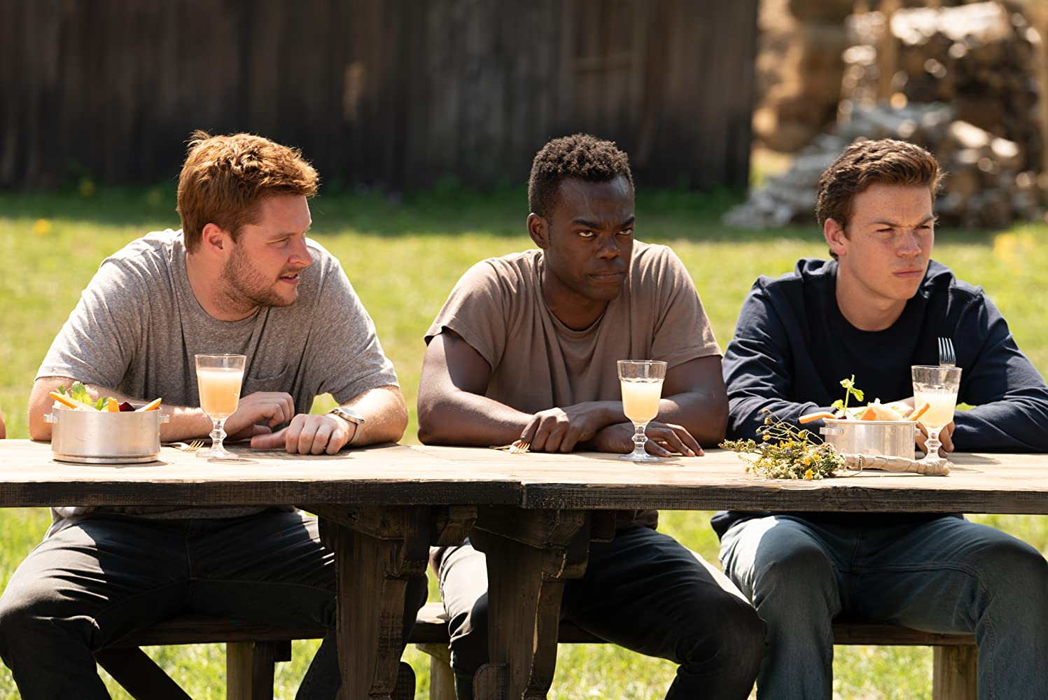 Will Poulter, William Jackson Harper, and Jack Reynor in Midsommar (2019)
