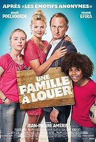 Benoît Poelvoorde, Pauline Serieys, Virginie Efira, and Calixte Broisin-Doutaz in Une famille à louer (2015)