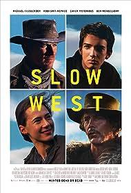 Ben Mendelsohn, Michael Fassbender, Kodi Smit-McPhee, and Caren Pistorius in Slow West (2015)