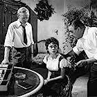Paul Douglas, Jocelyn Lane, and Leslie Phillips in The Gamma People (1956)