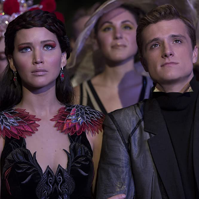 Josh Hutcherson and Jennifer Lawrence in The Hunger Games: Catching Fire (2013)