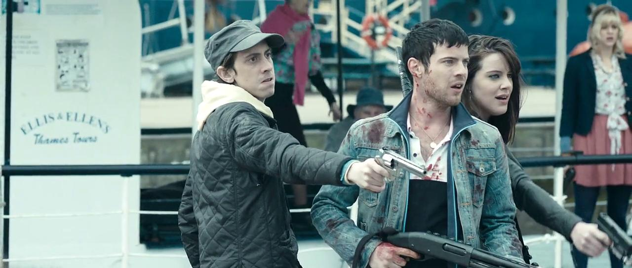Michelle Ryan, Rasmus Hardiker, Harry Treadaway, and Georgia King in Cockneys vs Zombies (2012)