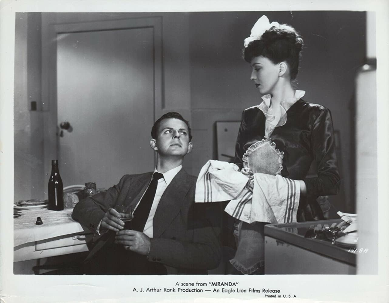 David Tomlinson and Googie Withers in Miranda (1948)