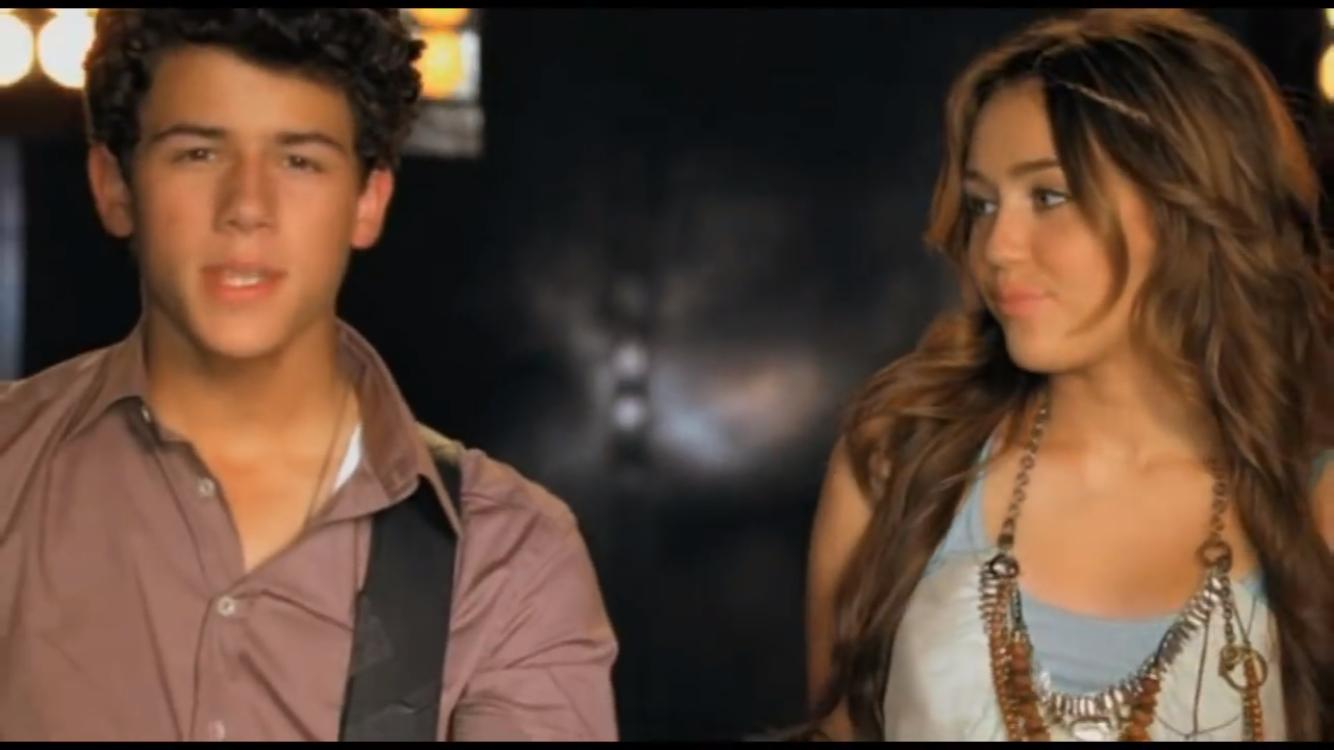Miley Cyrus and Nick Jonas in Disney's Friends for Change: Send It On (2009)