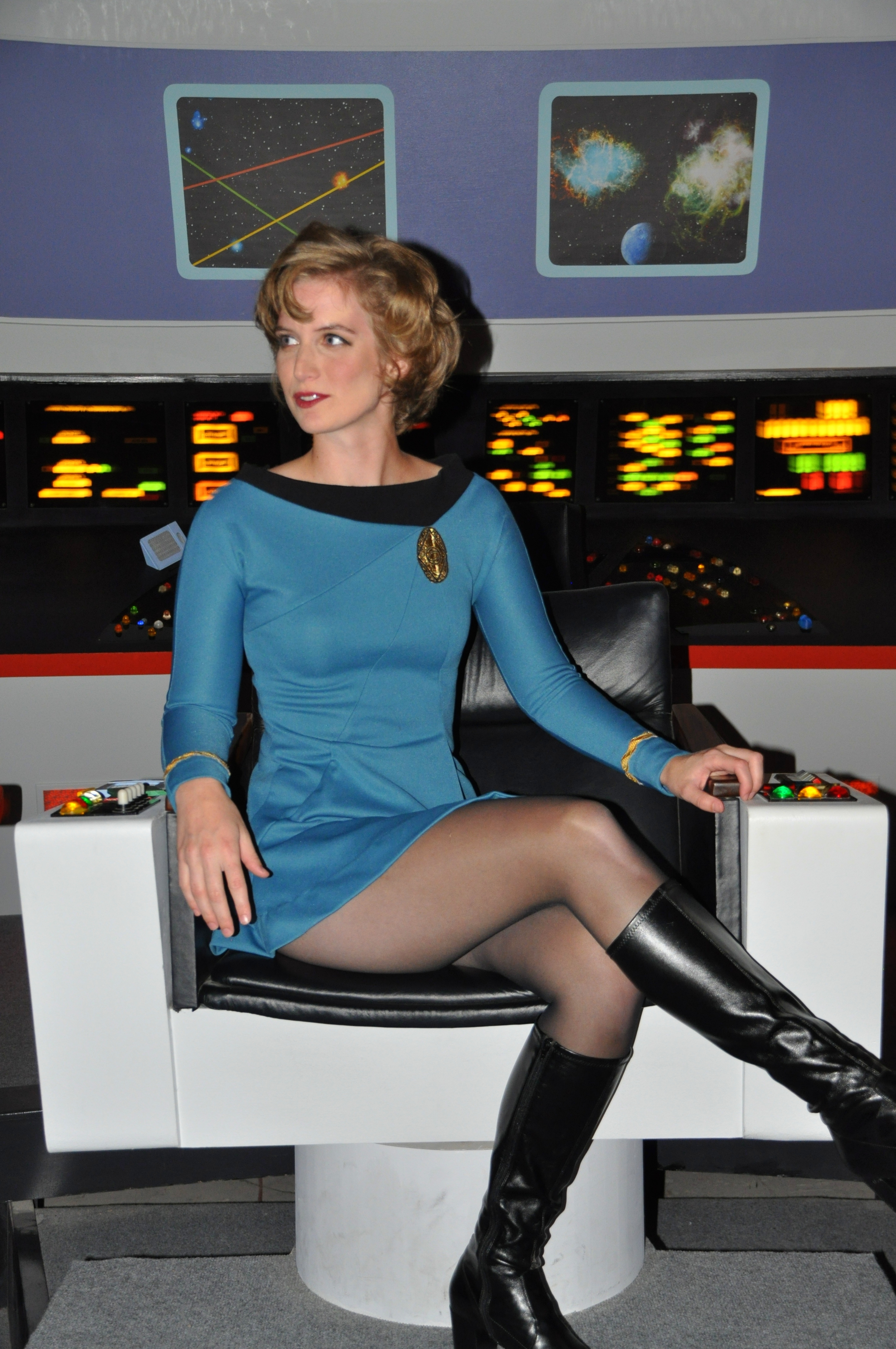 """Still of Leona Worcester on the set of """"Starship Farragut: The Crossing"""" (2014) directed by Jack Marshall."""