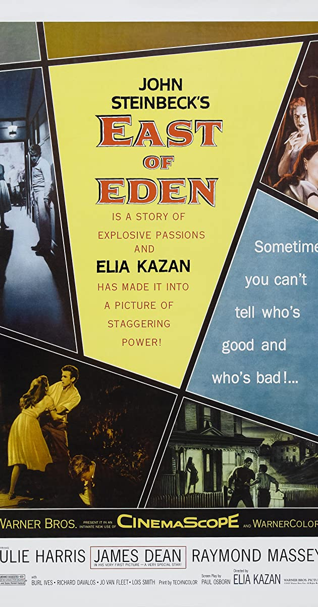 John Steinbeck East Of Eden James Dean Movie Film Poster Print Picture A3 A4