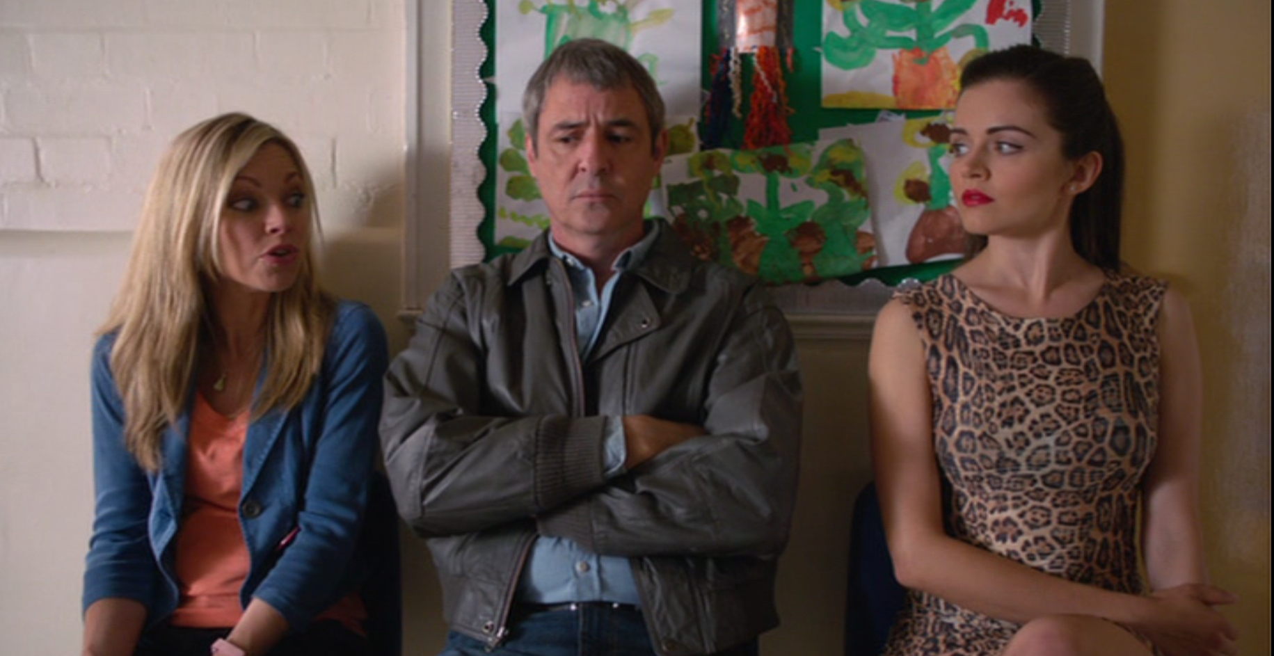 Sarah Alexander, Neil Morrissey and Vera Filatova in 'Me and Mrs Jones'.