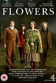 Julian Barratt, Olivia Colman, Sophia Di Martino, and Daniel Rigby in Flowers (2016)