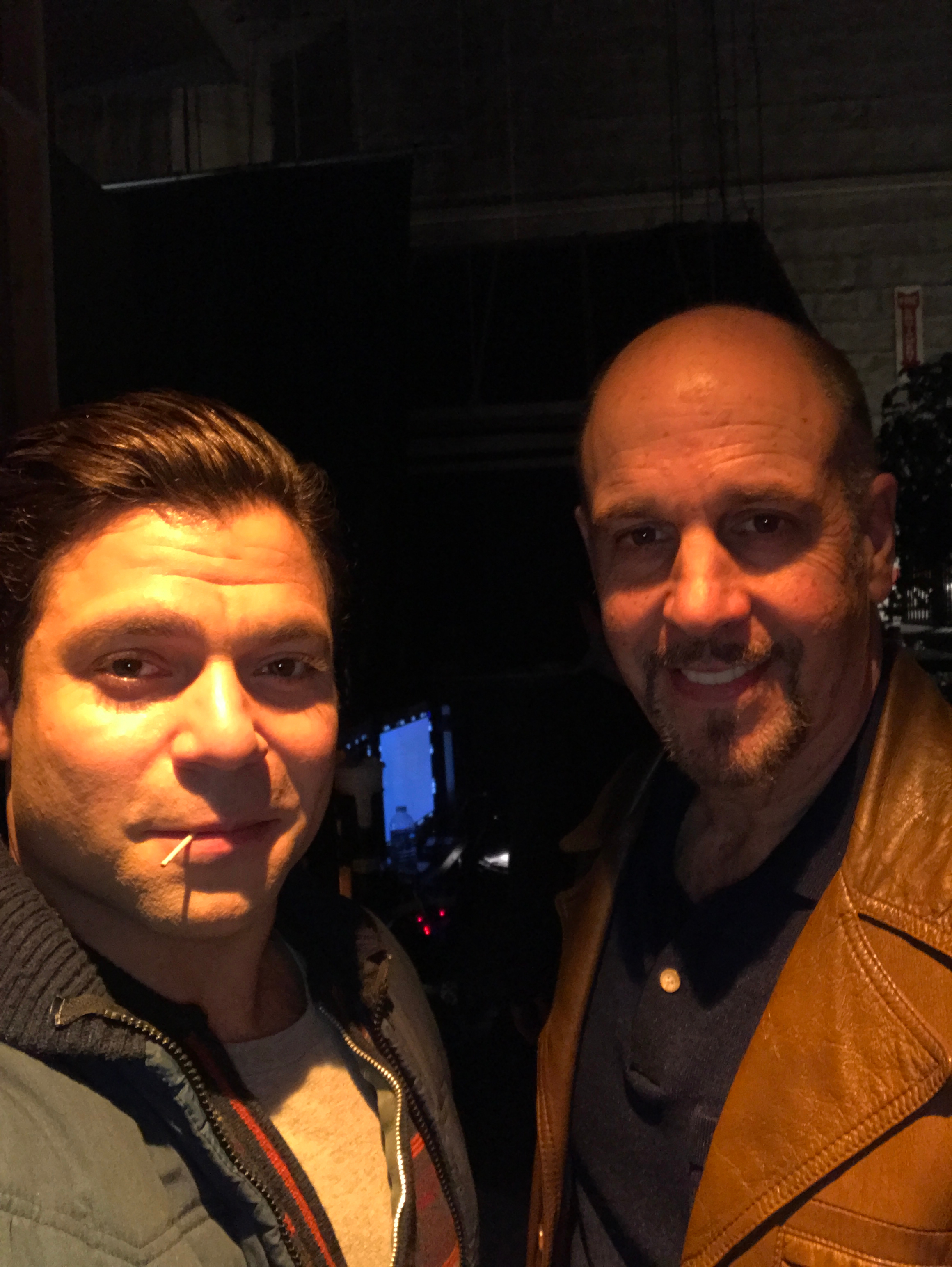 With Jeremy Luke on the set of This is Us