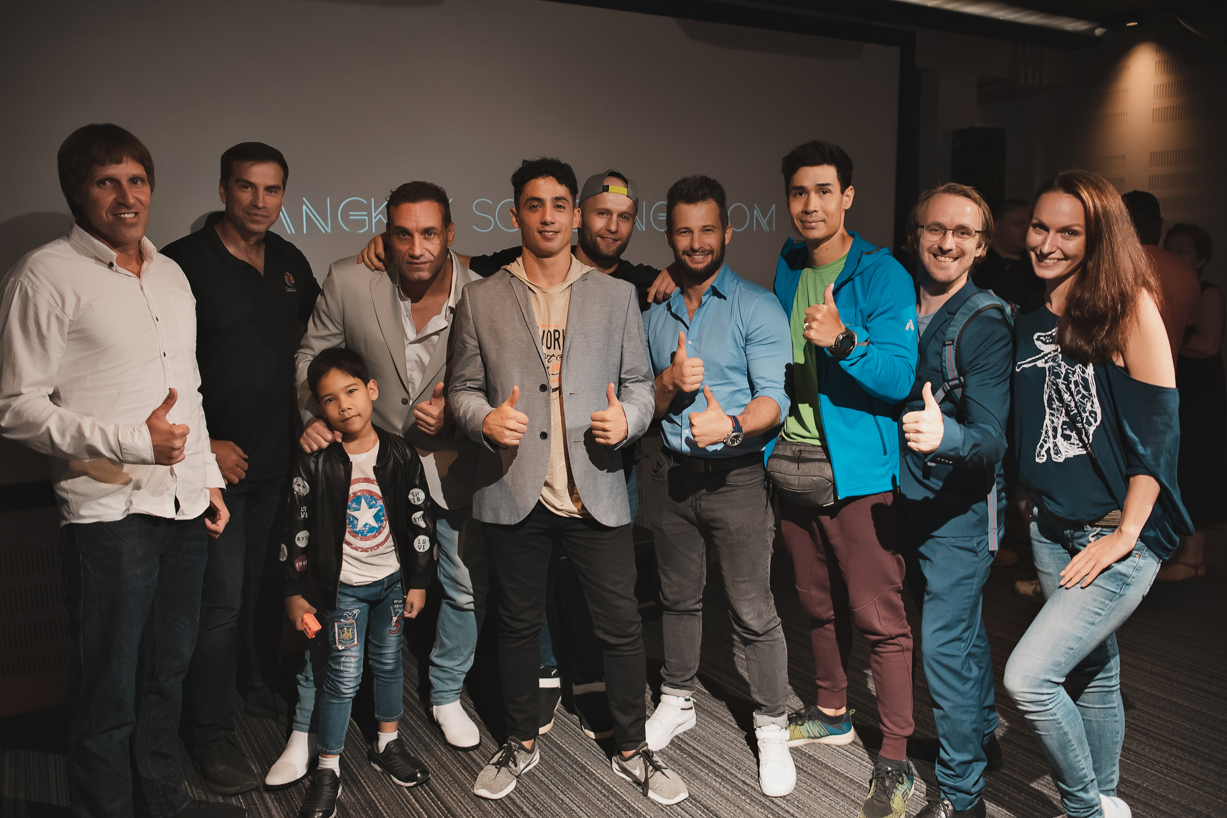 Some of the cast of Haphazard at the Bangkok Screening Room