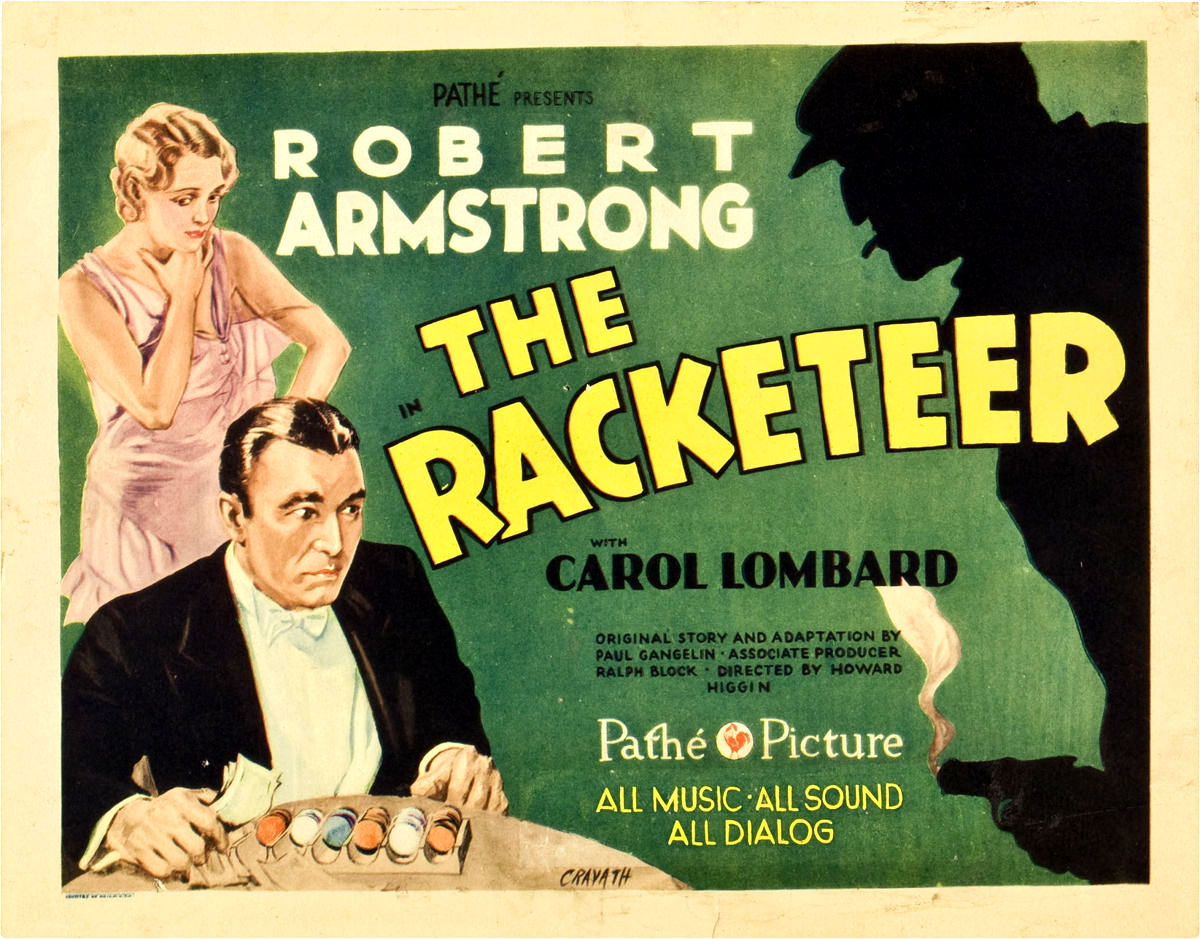 Carole Lombard and Robert Armstrong in The Racketeer (1929)