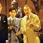 Douglass Dumbrille, Steven Geray, Sidney Toler, and Victor Sen Yung in Castle in the Desert (1942)