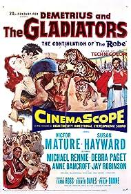Susan Hayward, Victor Mature, Richard Egan, Debra Paget, and Michael Rennie in Demetrius and the Gladiators (1954)