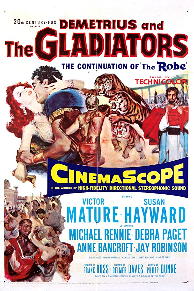 Susan Hayward, Victor Mature, Richard Egan, Debra Paget, and Michael Rennie in Demetrius and the Gladiators (1954)