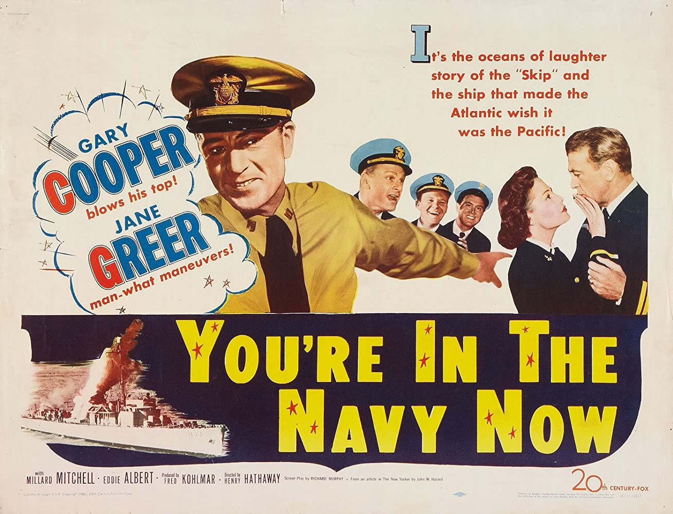Classic War Movie: You're in the Navy Now…. Gary Cooper ( Full Film )