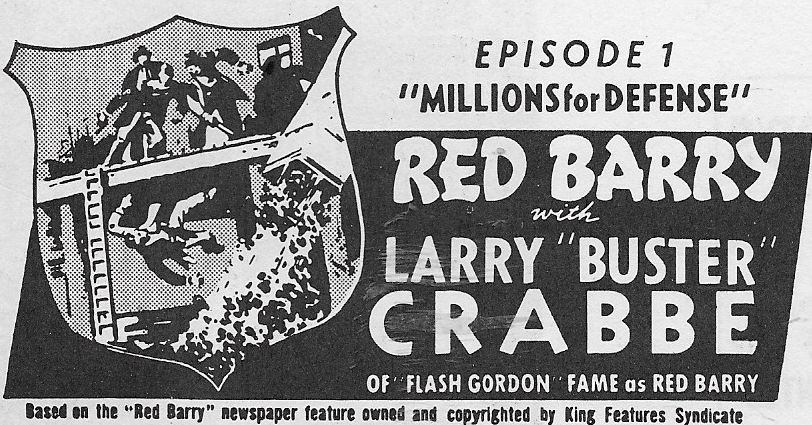 Buster Crabbe in Red Barry (1938)