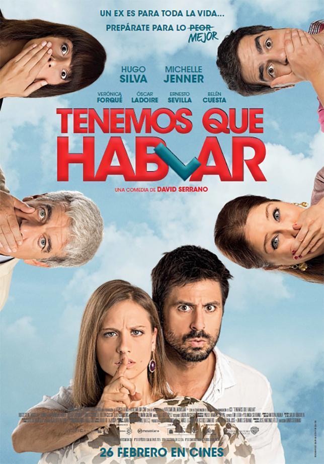 Verónica Forqué, Óscar Ladoire, Michelle Jenner, Ernesto Sevilla, Hugo Silva, and Belén Cuesta in Tenemos que hablar (2016)