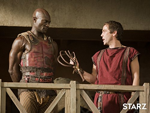 John Hannah and Peter Mensah in Spartacus: Gods of the Arena (2011)