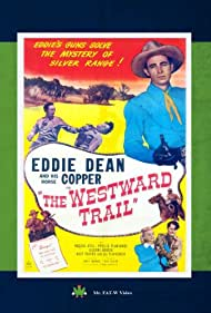 Roscoe Ates, Eddie Dean, Steve Drake, Phyllis Planchard, and Copper the Horse in The Westward Trail (1948)