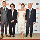 Christopher Plummer, David Leveaux, Jai Courtney, and Lily James at an event for The Exception (2016)