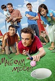 Frankie Muniz, Justin Berfield, Bryan Cranston, Jane Kaczmarek, Christopher Masterson, and Erik Per Sullivan in Malcolm in the Middle (2000)
