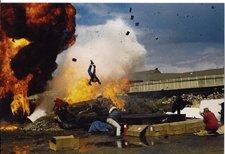 Marc Cass performing an air-ram stunt