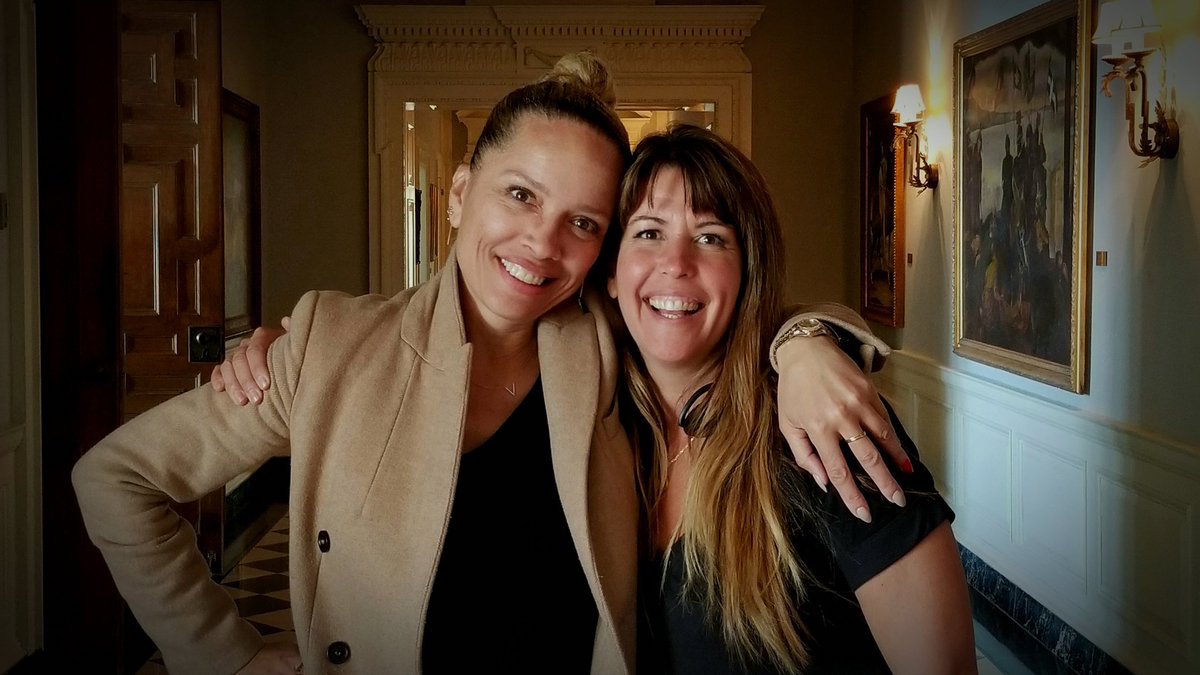 Victoria Mahoney with Patty Jenkins