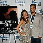 Erica at LA Shorts Fest with co-star Joseph Valdez