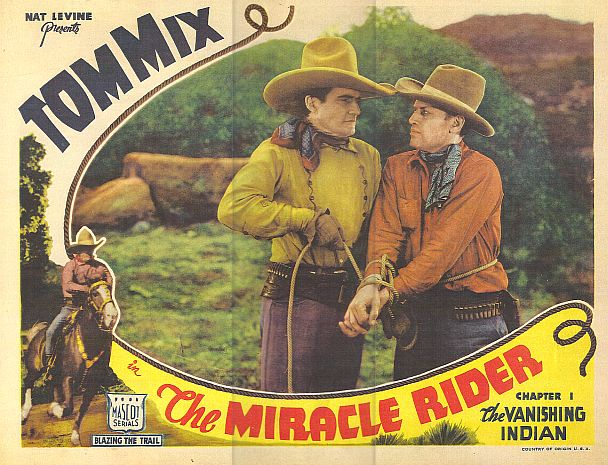Tom Mix, Stanley Price, and Tony Jr. the Horse in The Miracle Rider (1935)