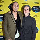 Evan Ross and Michael James Johnson at an event for All the Wilderness (2014)