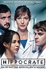 Zacharie Chasseriaud, Louise Bourgoin, Karim Leklou, and Alice Belaïdi in Hippocrate (2018)