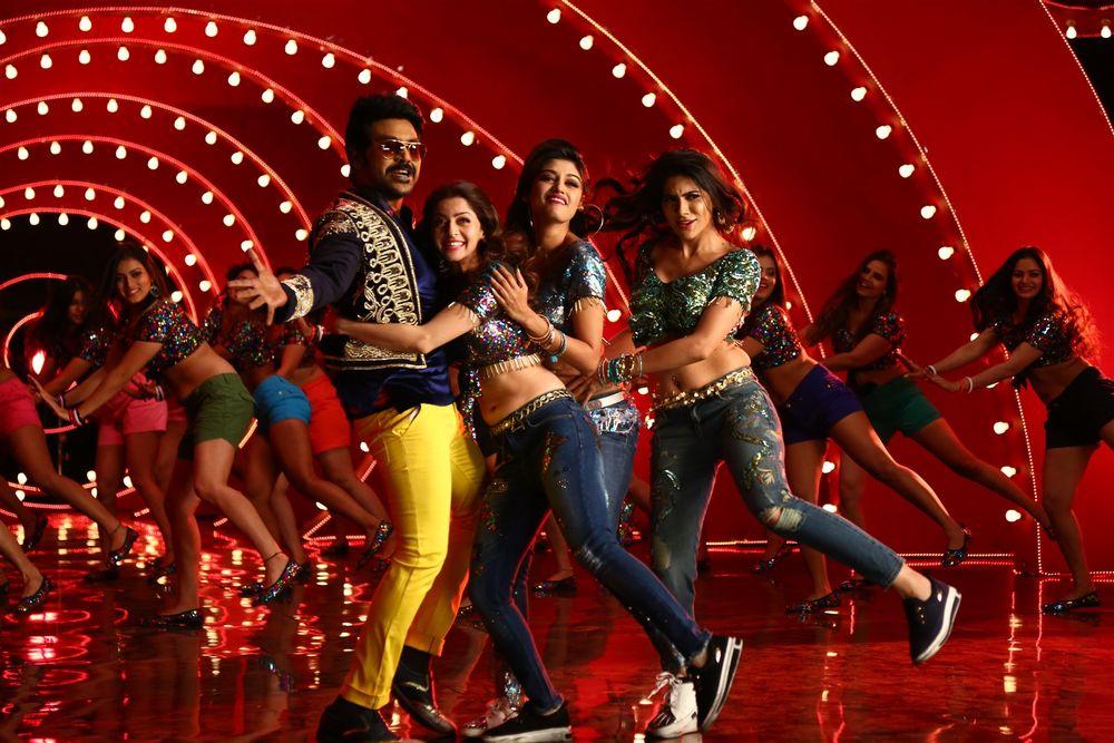 Lawrence Raghavendra, Vedhika, Oviya, and Nikki Tamboli in Kanchana 3 (2019)