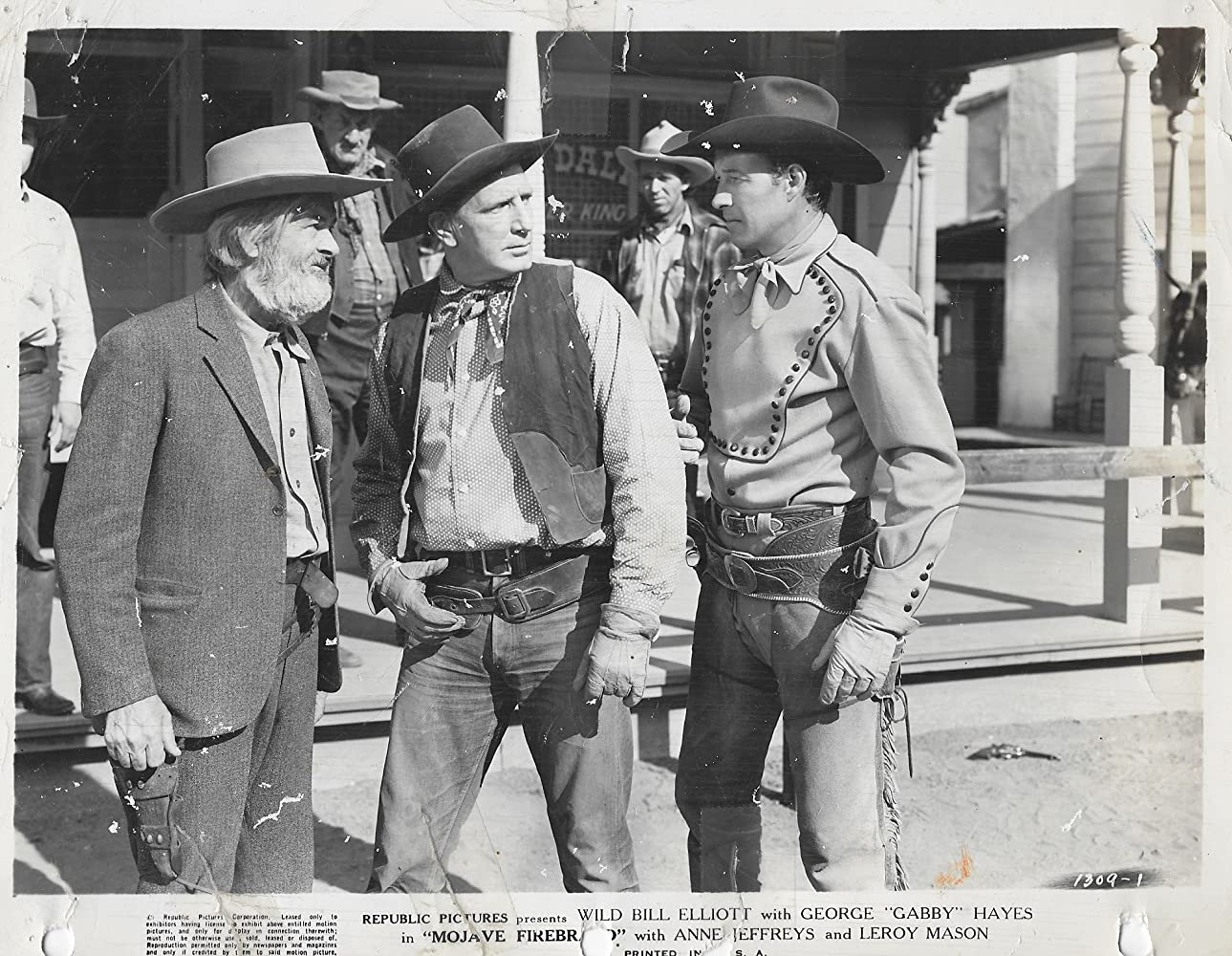 Art Dillard, Bill Elliott, Bud Geary, George 'Gabby' Hayes, and Robert Milasch in Mojave Firebrand (1944)