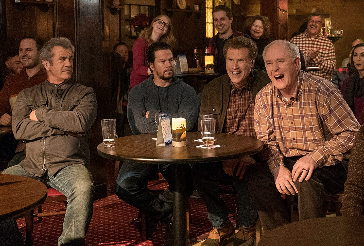Mel Gibson, Mark Wahlberg, John Lithgow, and Will Ferrell in Daddy's Home 2 (2017)