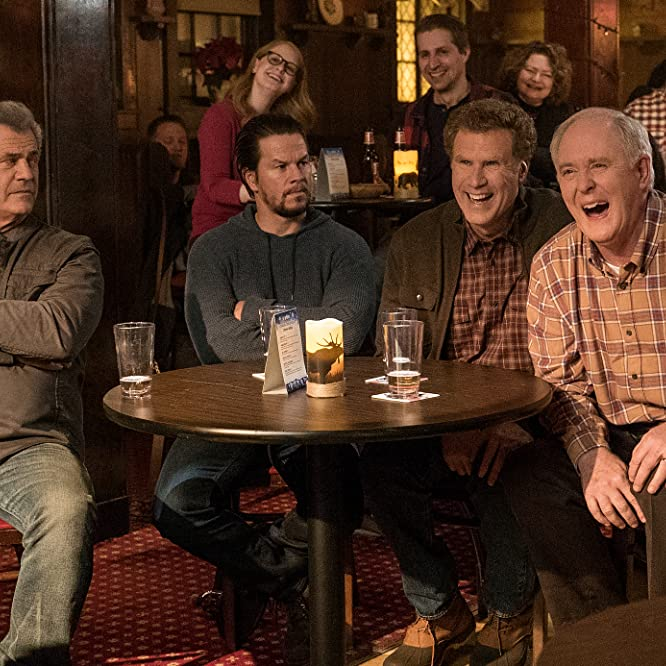 Mel Gibson, Mark Wahlberg, John Lithgow, and Will Ferrell in Daddy's Home Two (2017)