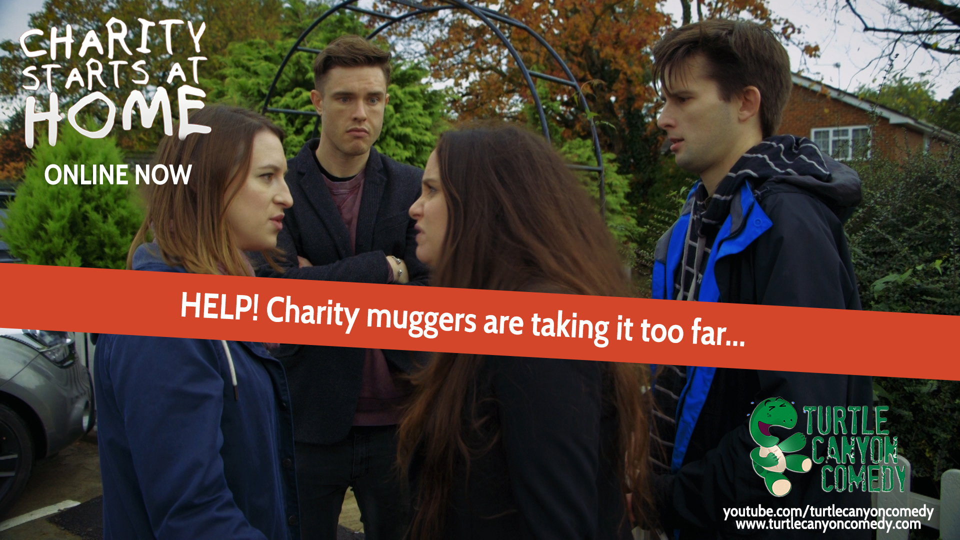 Rose Johnson, Sarah Daykin, and Kieran Hodgson in Charity Starts at Home (2015)