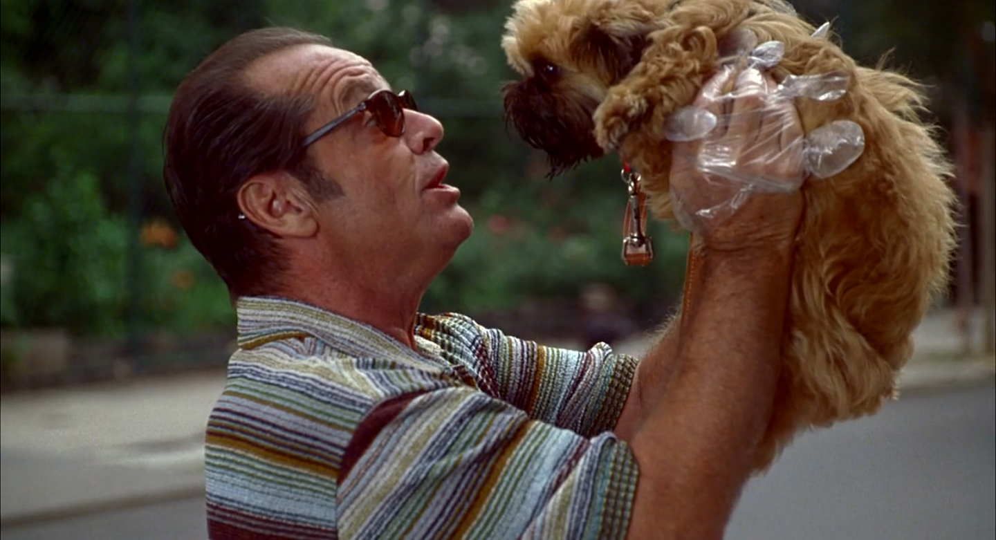 Jack Nicholson and Jill the Dog in As Good as It Gets (1997)