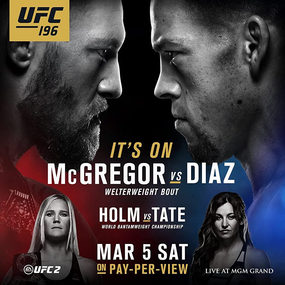 UFC 196: McGregor vs Diaz (201...