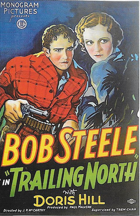 Doris Hill and Bob Steele in Trailing North (1933)