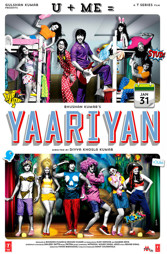 Yaariyan 2014 Hindi 460MB BluRay ESubs Download