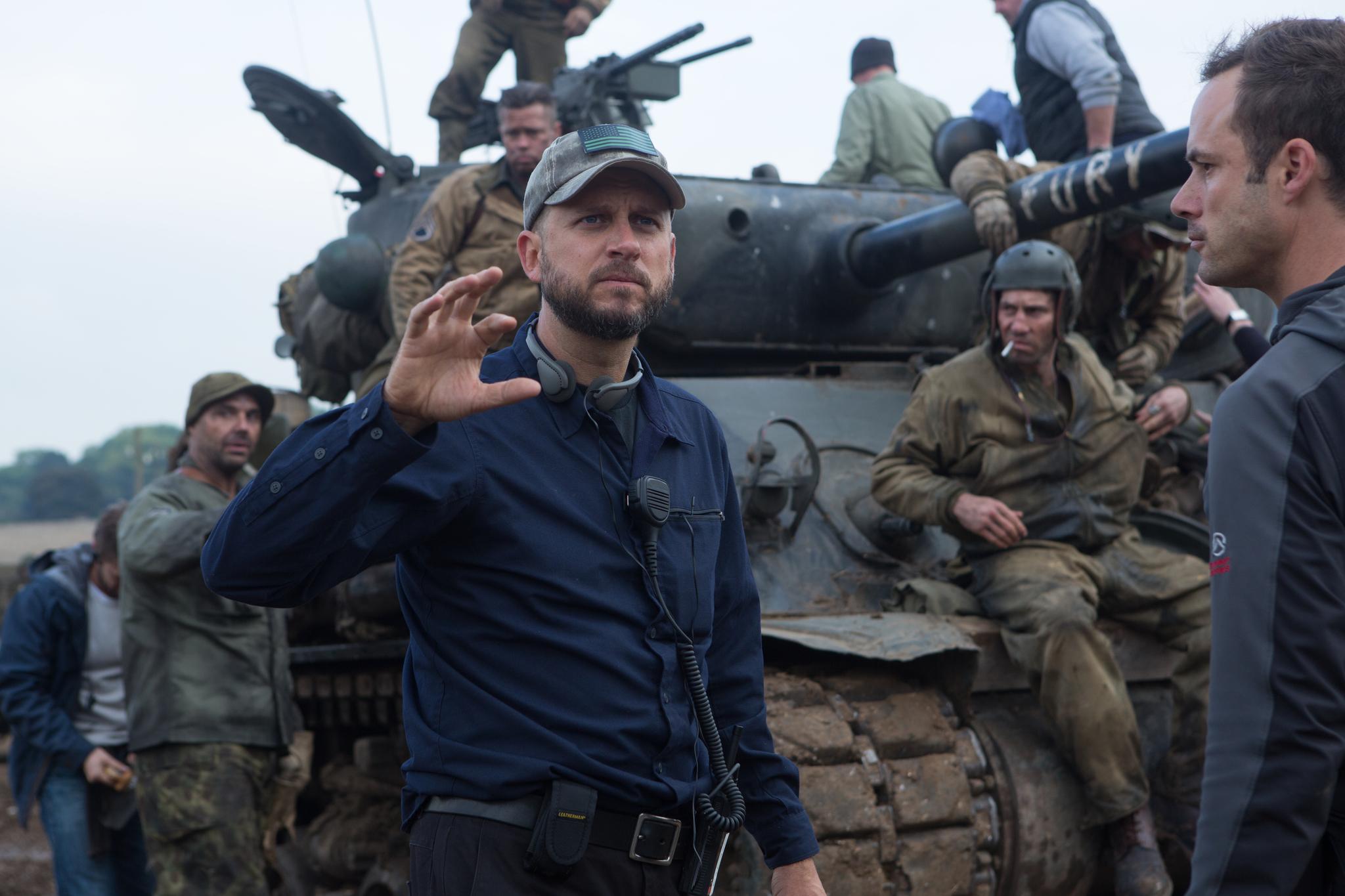 Brad Pitt, David Ayer, Toby Hefferman, Jon Bernthal, and Kevin Vance in Fury (2014)