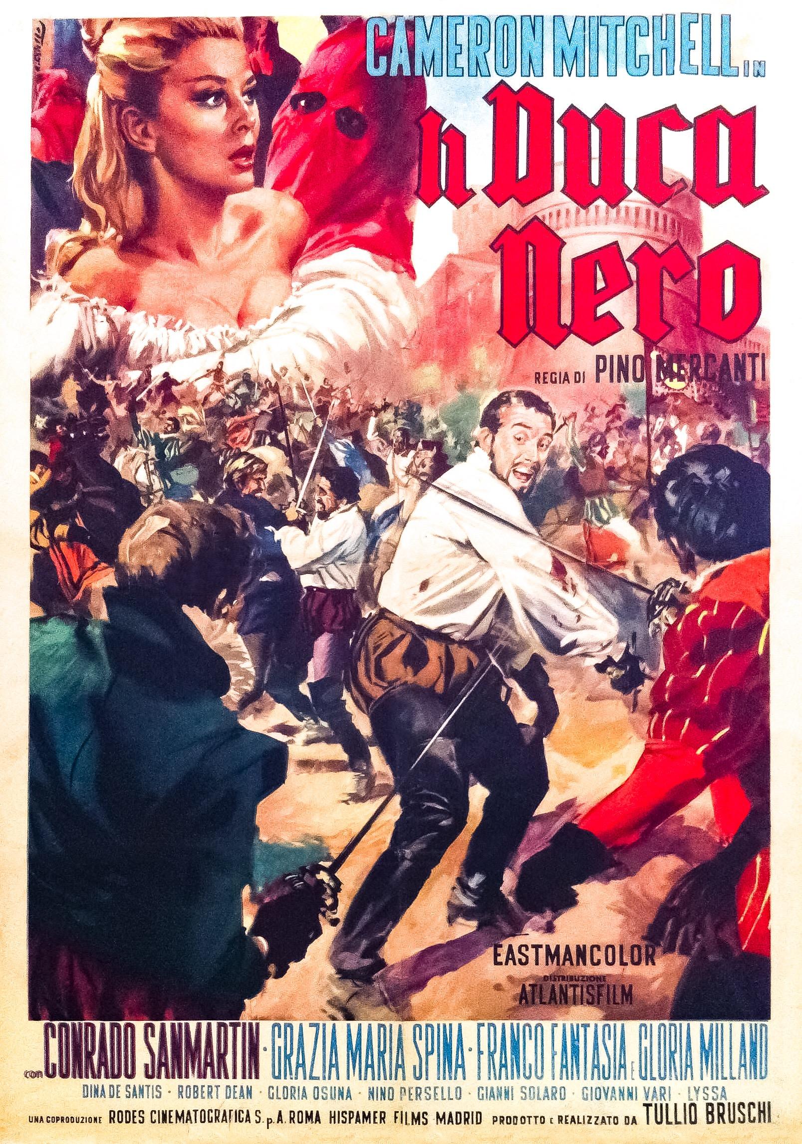 Tullio Bruschi, Franco Fantasia, Gloria Milland, Pino Mercanti, Cameron Mitchell, Conrado San Martín, and Maria Grazia Spina in Il duca nero (1963)